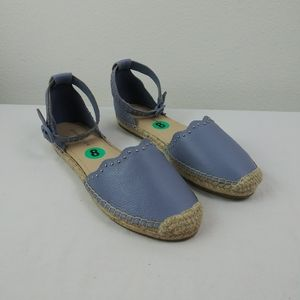 Marc Fisher JARQUIS Leather Espadrilles Flats EUC